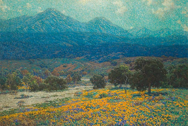 California Poppy Field, c.1926 | Granville Redmond | Painting Reproduction