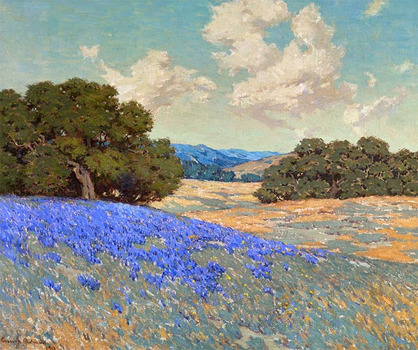 Lupines, 1913   Granville Redmond   Painting Reproduction