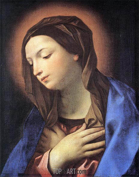 Virgin of the Annunciation, undated   Guido Reni   Painting Reproduction