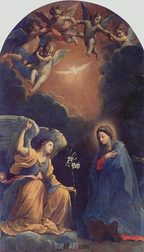 The Annunciation, 1610 | Guido Reni | Gemälde Reproduktion