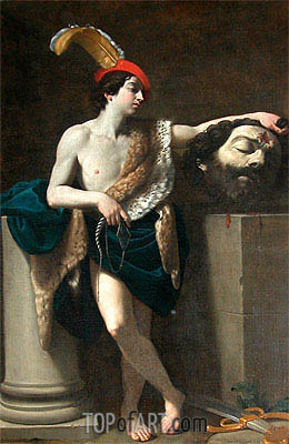 David with the Head of Goliath, 1605 | Guido Reni | Painting Reproduction