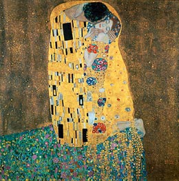 The Kiss, c.1907/08 by Klimt | Painting Reproduction