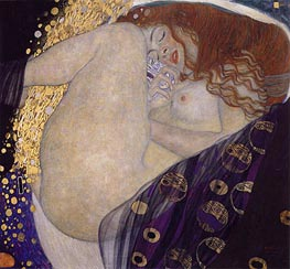 Danae, c.1907/08 by Klimt | Painting Reproduction