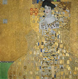 Portrait of Adele Bloch-Bauer I, 1907 by Klimt | Painting Reproduction