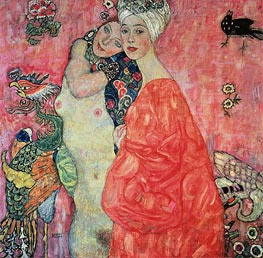 Girl Friends, c.1916/17 by Klimt | Painting Reproduction