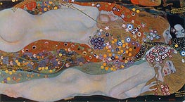 Water Serpents II, c.1904/07 by Klimt | Painting Reproduction