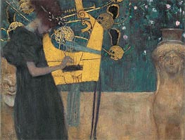 Music I, 1895 by Klimt | Painting Reproduction