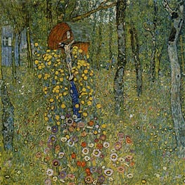 Farm Garden with Crucifix | Klimt | Gemälde Reproduktion