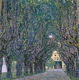 Avenue in Schloss Kammer Park | Klimt | Painting Reproduction