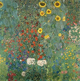 Farm Garden with Sunflowers | Klimt | Painting Reproduction