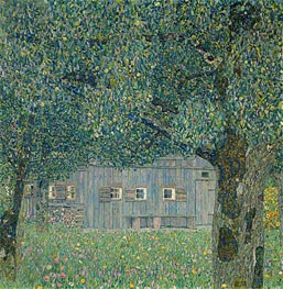 Farmhouse in Upper Austria | Klimt | Gemälde Reproduktion