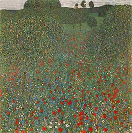 Poppy Field | Klimt | Painting Reproduction