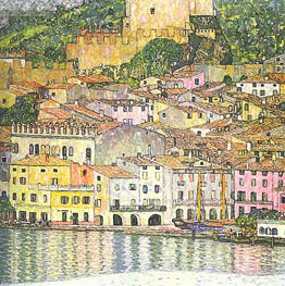 Malcesine on Lake Garda | Klimt | Gemälde Reproduktion