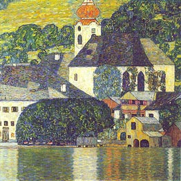 Church at Unterach at Attersee | Klimt | Gemälde Reproduktion