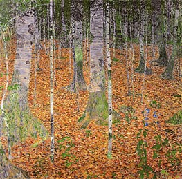 Birch Woods | Klimt | Gemälde Reproduktion