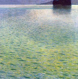 Island in the Attersee | Klimt | Gemälde Reproduktion