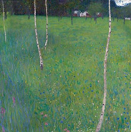 Farmhouse with Birch Trees | Klimt | Gemälde Reproduktion