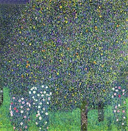 Roses Under the Trees | Klimt | Gemälde Reproduktion
