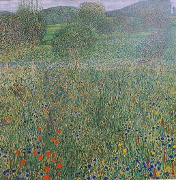 Field of Flowers (Orchard), c.1905 by Klimt | Painting Reproduction