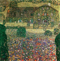 Country House by the Attersee, c.1914 by Klimt | Painting Reproduction