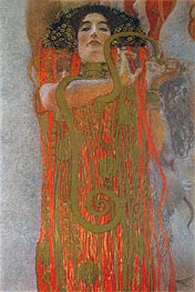 Hygieia (detail from Medicine), c.1900/07 by Klimt | Painting Reproduction