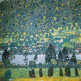 Forest Slope in Unterach on the Attersee, 1917 by Klimt | Painting Reproduction
