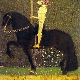 The Golden Knight (Life is a Struggle) | Klimt | Gemälde Reproduktion
