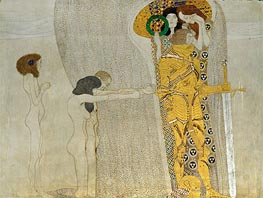 Desire of Happiness (The Beethoven Frieze) | Klimt | Painting Reproduction
