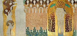 Choir of Angels (The Beethoven Frieze) | Klimt | Gemälde Reproduktion