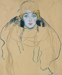 Head of a Woman, 1917 by Klimt | Painting Reproduction
