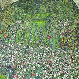Garden Landscape with Hilltop, 1916 by Klimt | Painting Reproduction