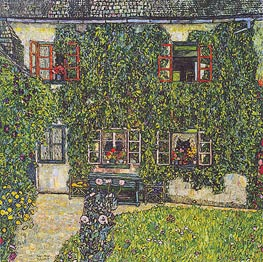 Forester's House in Weissenbach on the Attersee | Klimt | Painting Reproduction