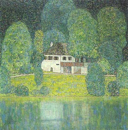 The Litzlbergkeller on the Attersee | Klimt | Gemälde Reproduktion