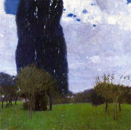 The Tall Poplar I | Klimt | Gemälde Reproduktion