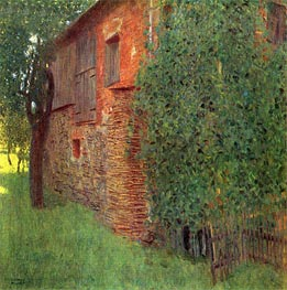 Farmhouse in Kammer am Attersee, 1901 by Klimt | Painting Reproduction