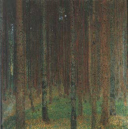 Pine Forest II, 1901 by Klimt | Painting Reproduction