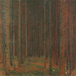 Pine Forest I, 1902 by Klimt | Painting Reproduction