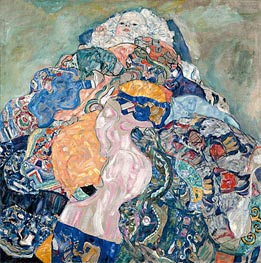 Baby (Cradle), c.1917/18 by Klimt | Painting Reproduction
