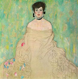 Portrait of Amalie Zuckerkandl, c.1917/18 by Klimt | Painting Reproduction