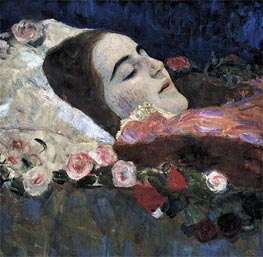 Ria Munk on Her Deathbed, 1912 by Klimt | Painting Reproduction