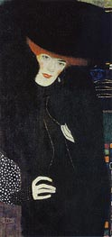 Portrait of a Lady in Red and Black | Klimt | Painting Reproduction