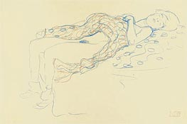 Reclining Semi-Nude, 1913 by Klimt | Painting Reproduction
