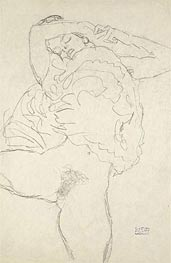 Reclining Semi-Nude with Spread Legs | Klimt | Painting Reproduction