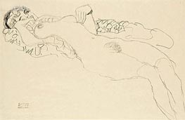 Reclining Female Nude | Klimt | Painting Reproduction