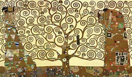 The Tree of Life - Stoclet Frieze, c.1905/06 by Klimt | Painting Reproduction