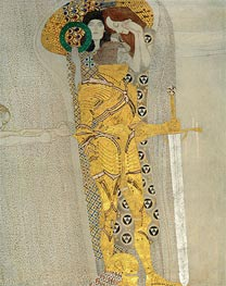 The Knight in Shining Armor (The Beethoven Frieze) | Klimt | Gemälde Reproduktion