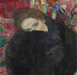 Lady with a Muff | Klimt | Painting Reproduction
