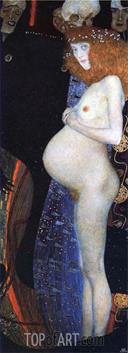 Hope I, 1903 | Klimt | Painting Reproduction