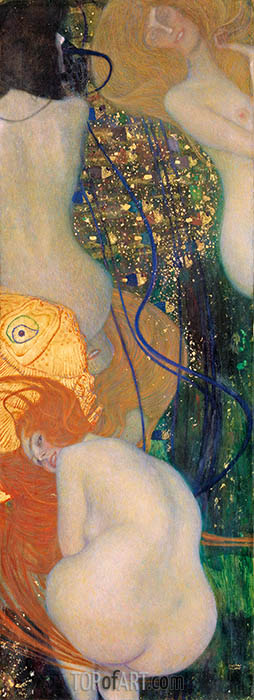 Gold Fish, c.1901/02 | Klimt | Painting Reproduction