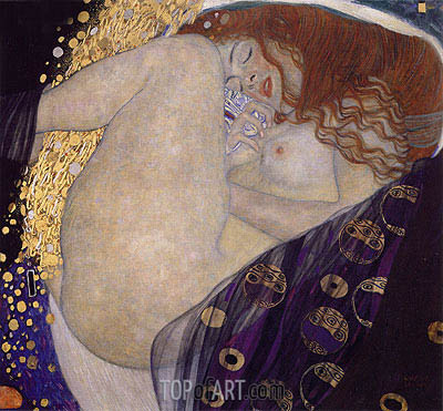 Danae, c.1907/08 | Klimt | Painting Reproduction